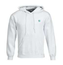 Captain A Hoodie-Wit-Turquoise-Voorkant