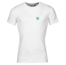 Aqua M T-short Stretch Wit Turquoise