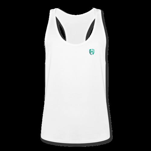 Super M TankTop Wit Turquoise Voorkant